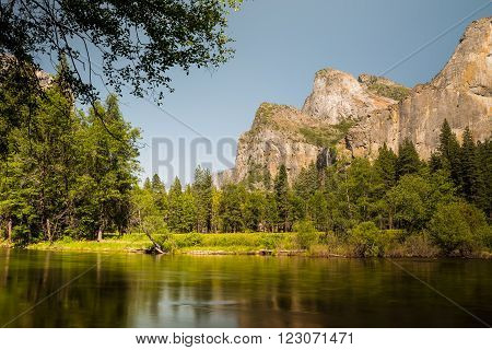 Yosemite National Park in sunny day, California