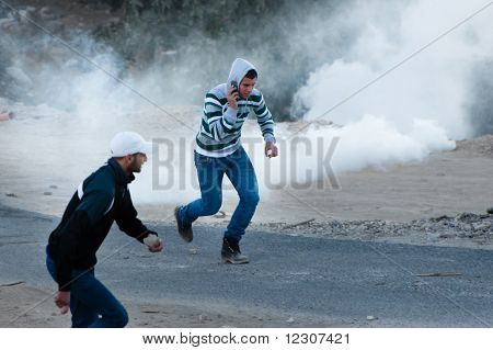 Tear Gas and Palestinian Protesters