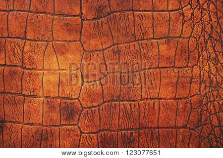 Old leather texture as a brown background