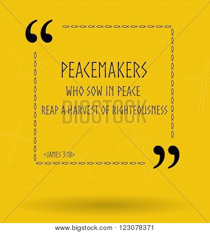 Best Bible quotes about peace and peacemakers. Christian sayings for Bible study flashcards illustration