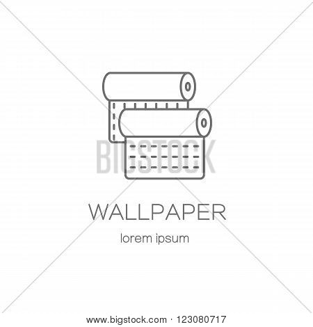 Wallpaper DIY shop logotype design templates. Modern easy to edit logo template. Vector logo design series.