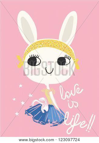 fashion cute rabbit
