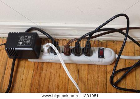 Overloaded Plug Strip