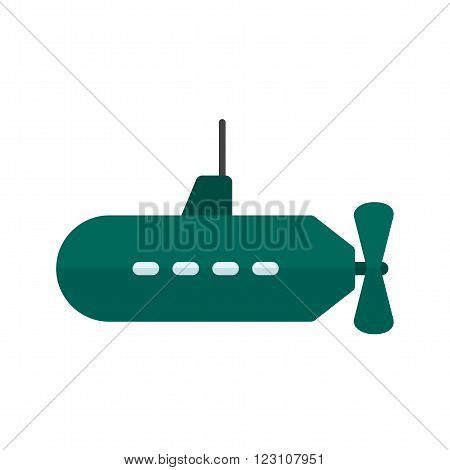 Submarine icon vector image. Can also be used for sea. Suitable for use on web apps, mobile apps and print media.