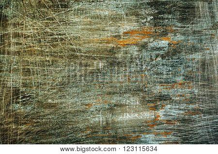 Black Grunge Scratched Background