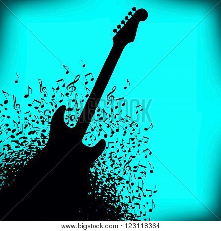 A Guitar Music Concert Poster Layout Template