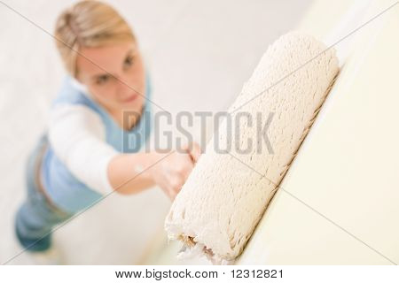 Home Improvement - Handywoman Painting Wall