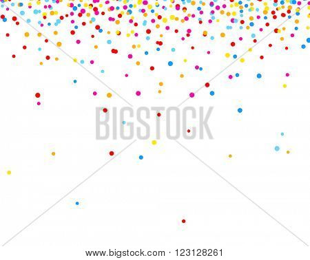 White background with color drops. Vector illustration.