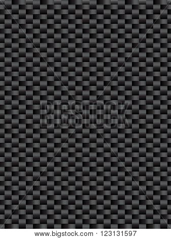 Black weave texture synthetic fiber geometric seamless background vector