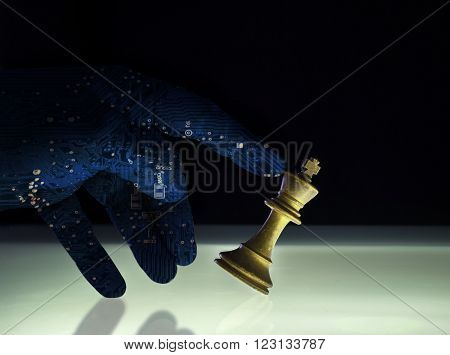 Superior Artificial Intelligence Wining Chess Concept