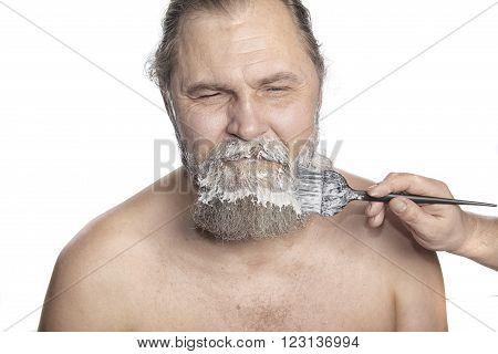 Man Color A Beard