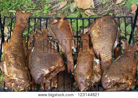 Smoked Fish On The Grill