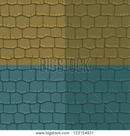 Seamless texture slate roof two color. Vector illustration. Architecture pattern