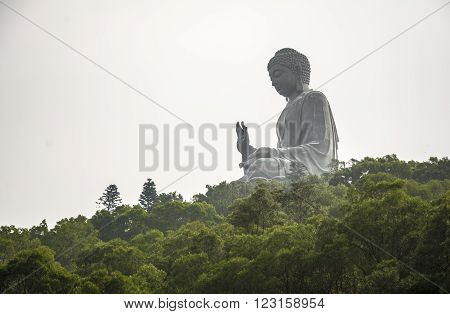 Tian Tan Buddha - The worlds's tallest bronze Buddha in Lantau Island, Hong Kong.