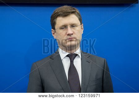 19.11.2015. Moscow Russia . Alexander V. Novak Minister of Energy of the Russian Federation