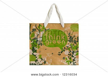 Recycled Paper Bags Isolated On White Background