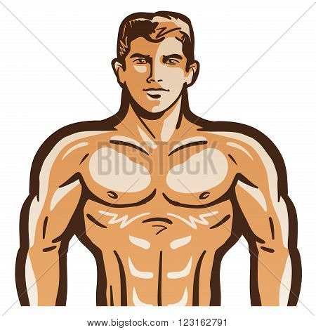 the body of a man isolated on a white background. vector illustration
