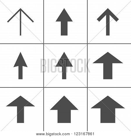 Arrow Icons, Line Icons Set Of Arrows, Direction Symbols. Direction Vector Icons. Modern Color Flat