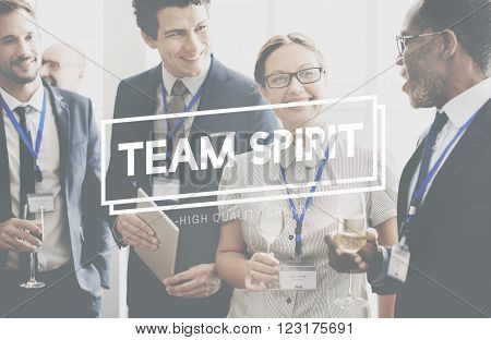 Team Spirit Power Spirit Strong Togetherness Concept