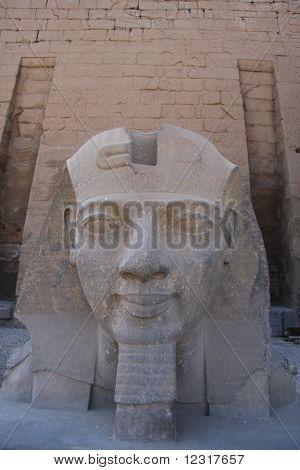 Sphinx Head Luxor Egypt