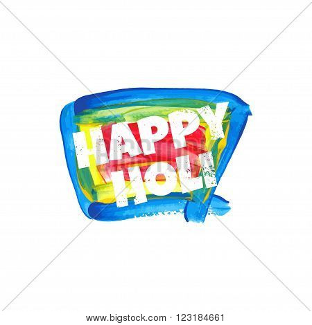 Illustration Of Abstract Colorful Happy Holi Badge. Vector