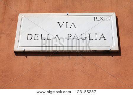 Rome Street Sign