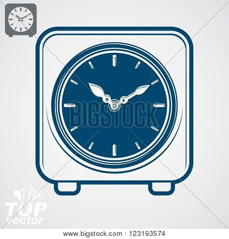 Vector Square Table Clock With Simple Clockwise, Includes Additional Version. Eps 8 High Quality Det