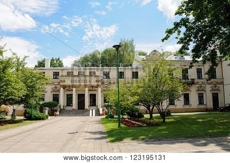 RADOM, POLAND - JULY 4, 2009: Former palace of the solicitor W. Kulczycki, now the building of the City Public Library