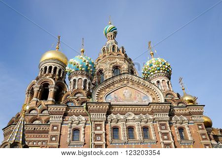 Savior on Spilled Blood Cathedral ( Spas na Krovi ) in St.Petersburg Russia. poster