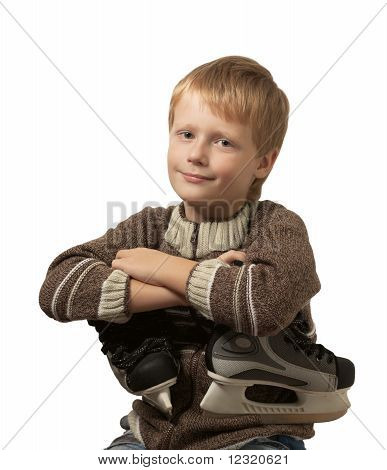 The little boy with the skates