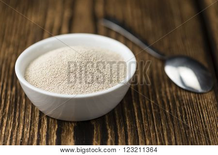 Bowl With Dried Yeast
