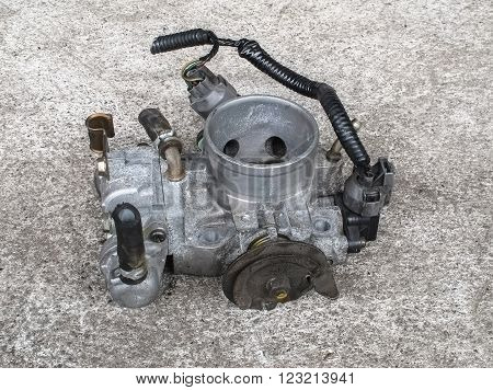 Old carburetor for motorcycle (single cylinder engine)
