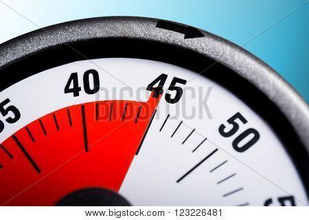 Macro Of A Kitchen Egg Timer - 45 Minutes