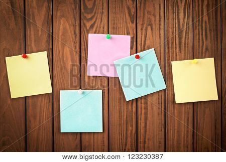 paper for notes on the wooden background