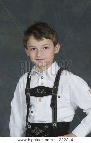 model release #270 german chrildren ages 8 and 9 years in traditional clothing poster