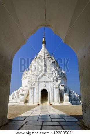 Hsinbyume ( Myatheindan ) pagoda Mingun Mandalay Myanmar