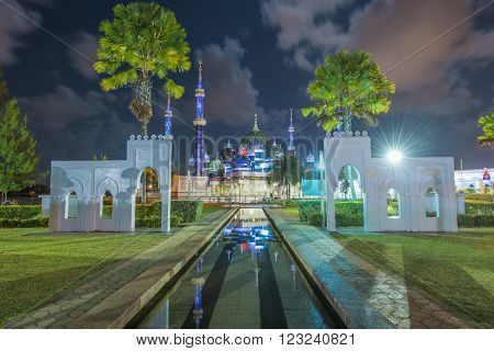 Crystal Mosque in Kuala Terengganu Terengganu Malaysia