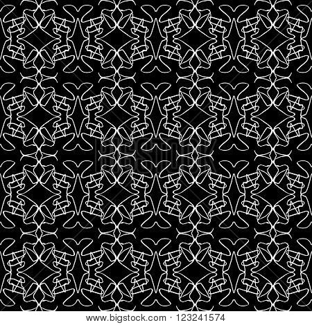 monochrome vintage seamless pattern vector illustration abstract high quality