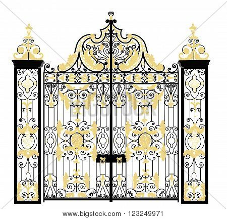 Gate of Kensington palace residence of The Duke and Duchess of Cambridge poster