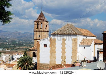 View of Santa Maria Church (Iglesia Santa Maria la Mayor) Velez Malaga Costa del Sol Malaga Province Andalusia Spain Western Europe.
