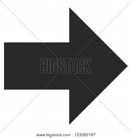 Arrow Right vector icon. Arrow Right icon symbol. Arrow Right icon image. Arrow Right icon picture. Arrow Right pictogram. Flat gray arrow right icon. Isolated arrow right icon graphic.