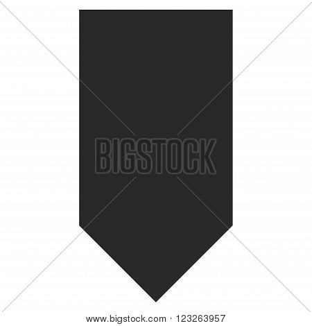 Direction Down vector icon. Direction Down icon symbol. Direction Down icon image. Direction Down icon picture. Direction Down pictogram. Flat gray direction down icon.