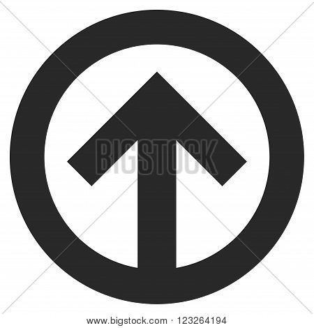 Direction Up vector icon. Direction Up icon symbol. Direction Up icon image. Direction Up icon picture. Direction Up pictogram. Flat gray direction up icon. Isolated direction up icon graphic.