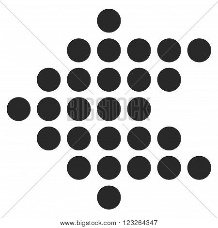 Dotted Arrow Left vector icon. Dotted Arrow Left icon symbol. Dotted Arrow Left icon image. Dotted Arrow Left icon picture. Dotted Arrow Left pictogram. Flat gray dotted arrow left icon.