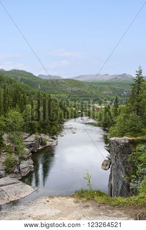 River Hemsila. Shot from Hemsedal Norway at summer time