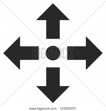 Expand Arrows vector icon. Expand Arrows icon symbol. Expand Arrows icon image. Expand Arrows icon picture. Expand Arrows pictogram. Flat gray expand arrows icon. Isolated expand arrows icon graphic.