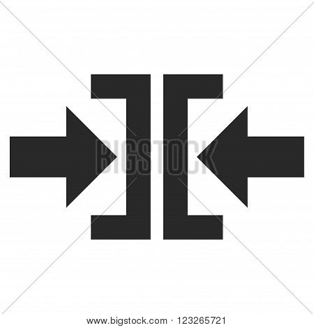 Press Horizontal Direction vector icon. Press Horizontal Direction icon symbol. Press Horizontal Direction icon image. Press Horizontal Direction icon picture. Press Horizontal Direction pictogram.
