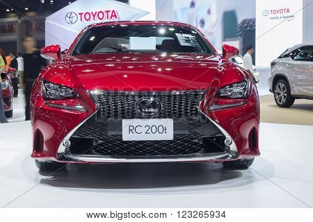 Lexus Rc 200T Couper Showed In Thailand The 37Th Bangkok International Motor Show