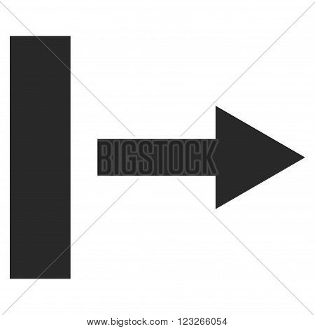 Pull Right vector icon. Pull Right icon symbol. Pull Right icon image. Pull Right icon picture. Pull Right pictogram. Flat gray pull right icon. Isolated pull right icon graphic.