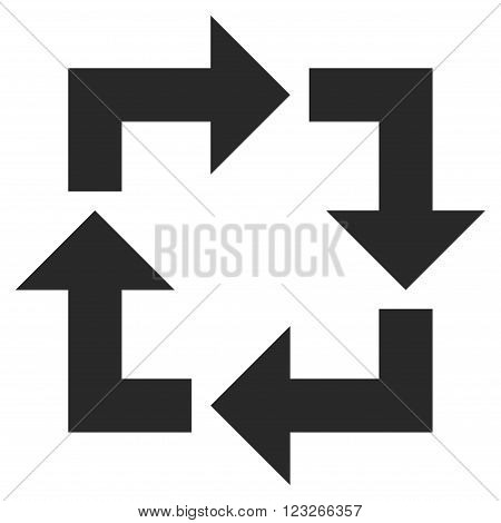 Recycle vector icon. Recycle icon symbol. Recycle icon image. Recycle icon picture. Recycle pictogram. Flat gray recycle icon. Isolated recycle icon graphic. Recycle icon illustration.